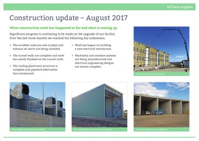 Construction Update August 2017