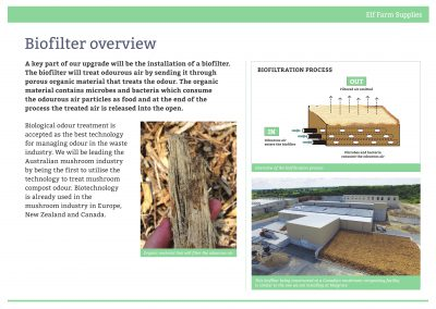 Biofilter overview, August 2016
