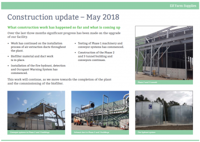Construction Update May 2018